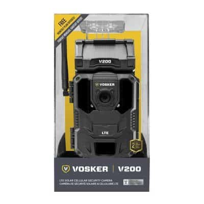 VOSKER V200 4G sikkerhetskamera med solcellepanel